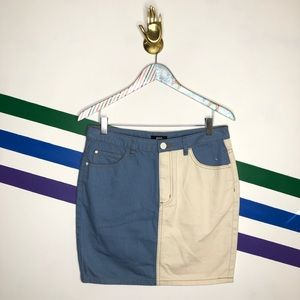 NEW BDG Colorblock denim skirt
